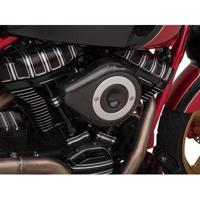 S&S Cycle Air Cleaner Cover - Carbon Fiber Teardrop