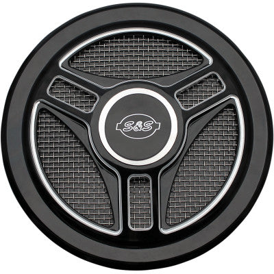 S&S Cycle Stealth Air Cleaner Cover - Triple-Spoke