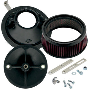 S&S Cycle Super Stock Stealth Air Cleaner Kit - 1936-1992 Big Twins & 1957-1990 Sportster Models with Super E&G Carbs