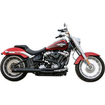 S&S Cycle SuperStreet 50 State 2:1 Exhaust System - M8 Softail - Black