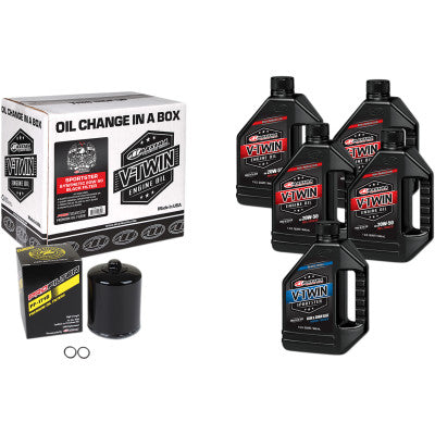 Maxima Racing Oils Full Oil Change Kit - Synthetic - Sportster - Cobalt Cycles