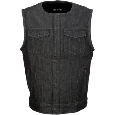 Z1R Ganja Denim Vest - Cobalt Cycles
