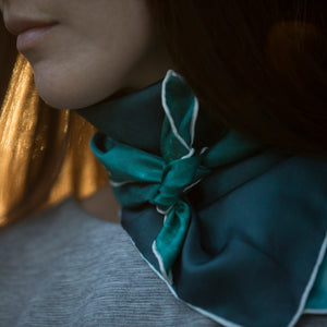 Hunting Hue - Scarf - Unisex - Custom Photography - Silk - Ariel Surfers - MIKI D