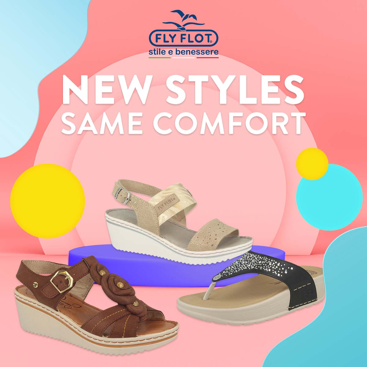 Fly Flot - sandals and slippers for men