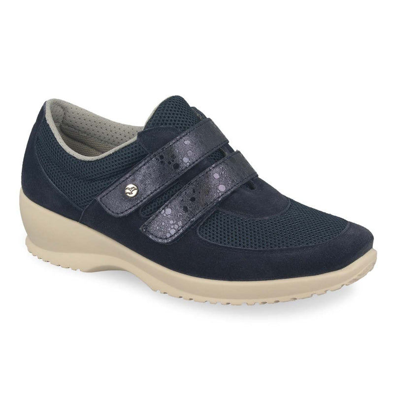 Photo of the Cloth-Leather Woman Shoe Dark Blue (17b35iq)