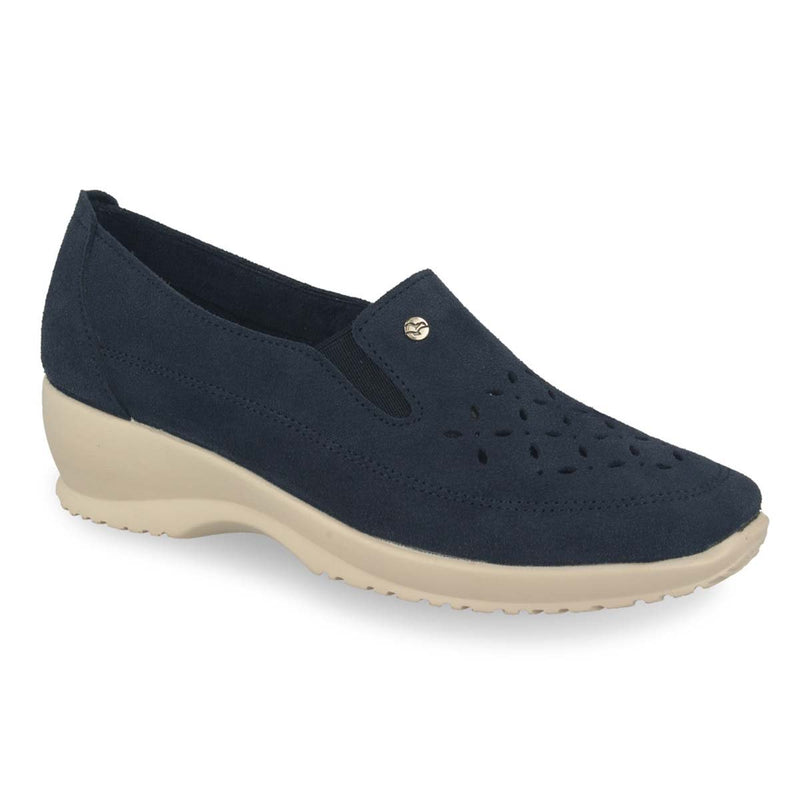 Photo of the Leather Woman Shoe Blue (17d97sq)