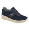 Photo of the Cloth-Leather Woman Shoe Dark Blue (18e41sq)