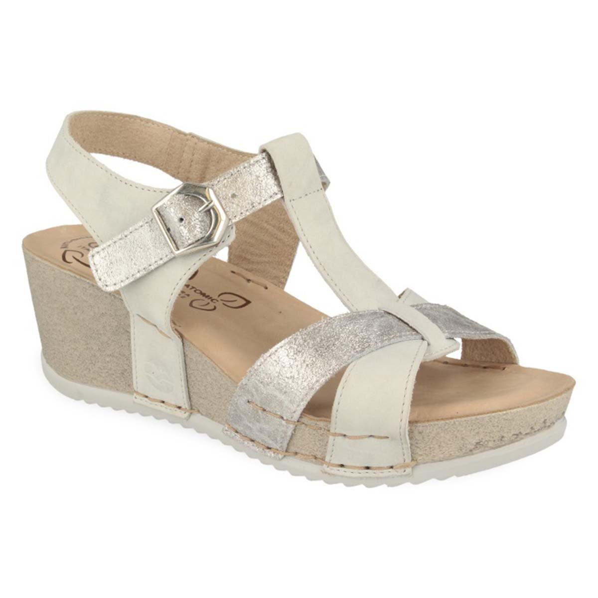 See photos Leather Woman Sandal White (332167G)