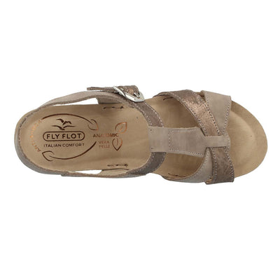 Leather Woman Sandal Taupe  (330216   7G)