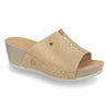 Photo of the Leather Woman Slipper Beige (33e42og)