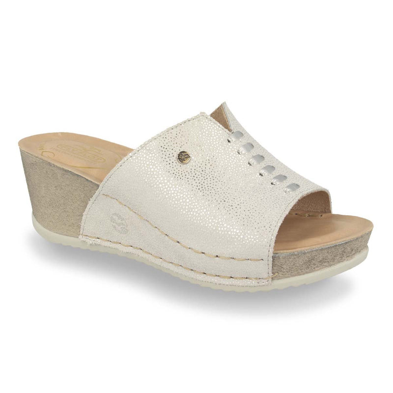 Photo of the Leather Woman Slipper Light Grey (33e42og)