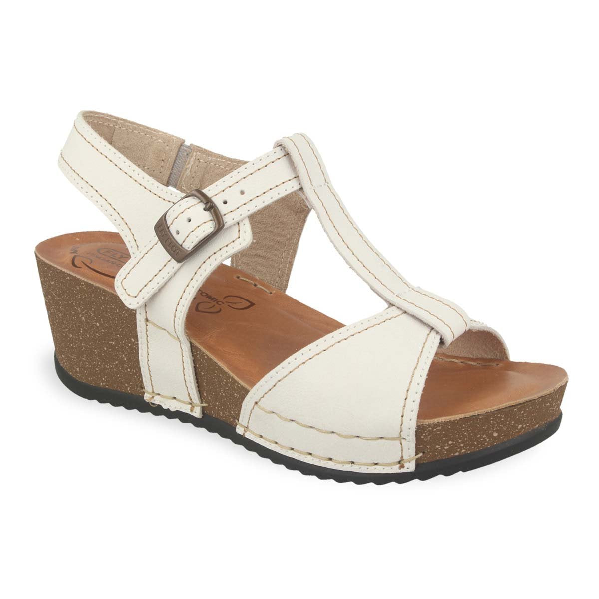 Photo of the Leather Woman Sandal White (33e43bg)