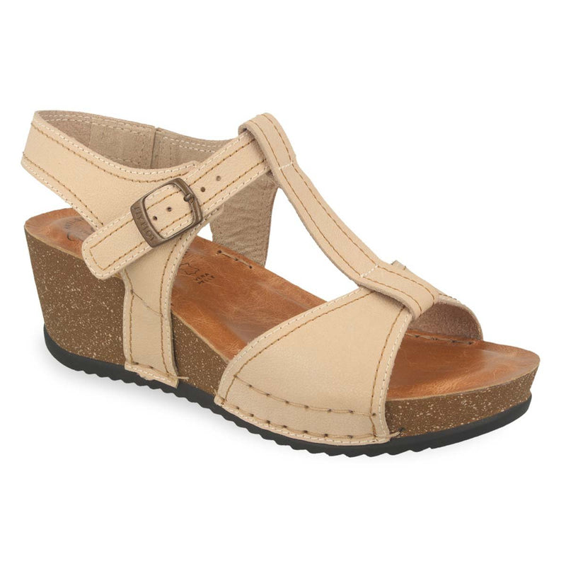 Photo of the Leather Woman Sandal Beige (33e43bg)