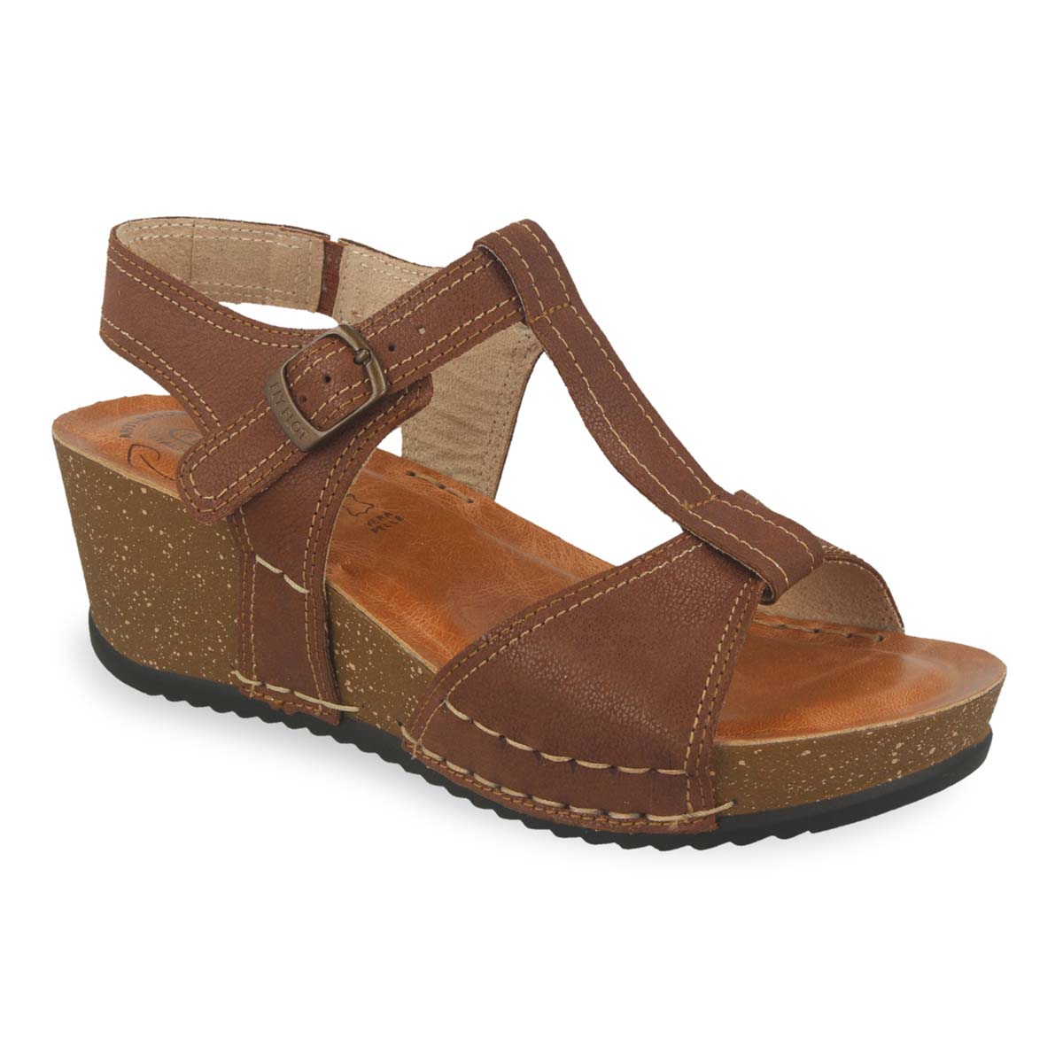 Photo of the Leather Woman Sandal Brown (33e43bg)
