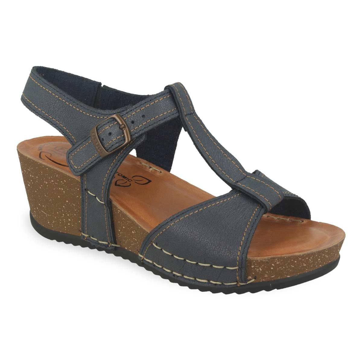 Photo of the Leather Woman Sandal Dark Blue (33e43bg)