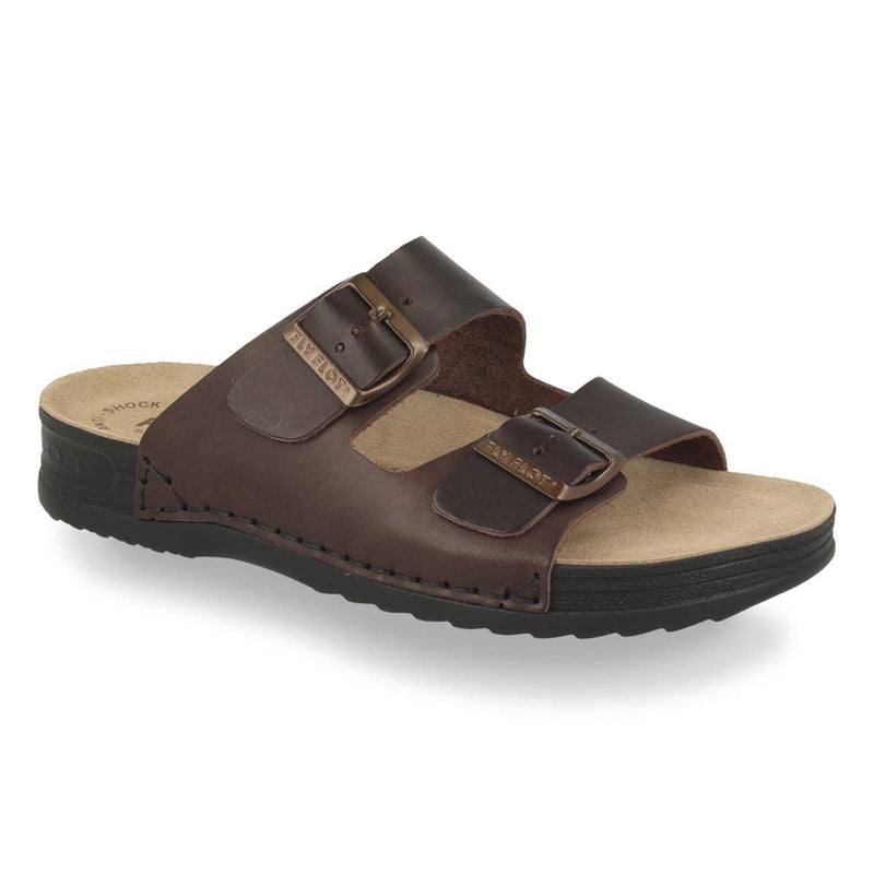 Photo of the Leather Man Slipper Dark Brown (40035xv)