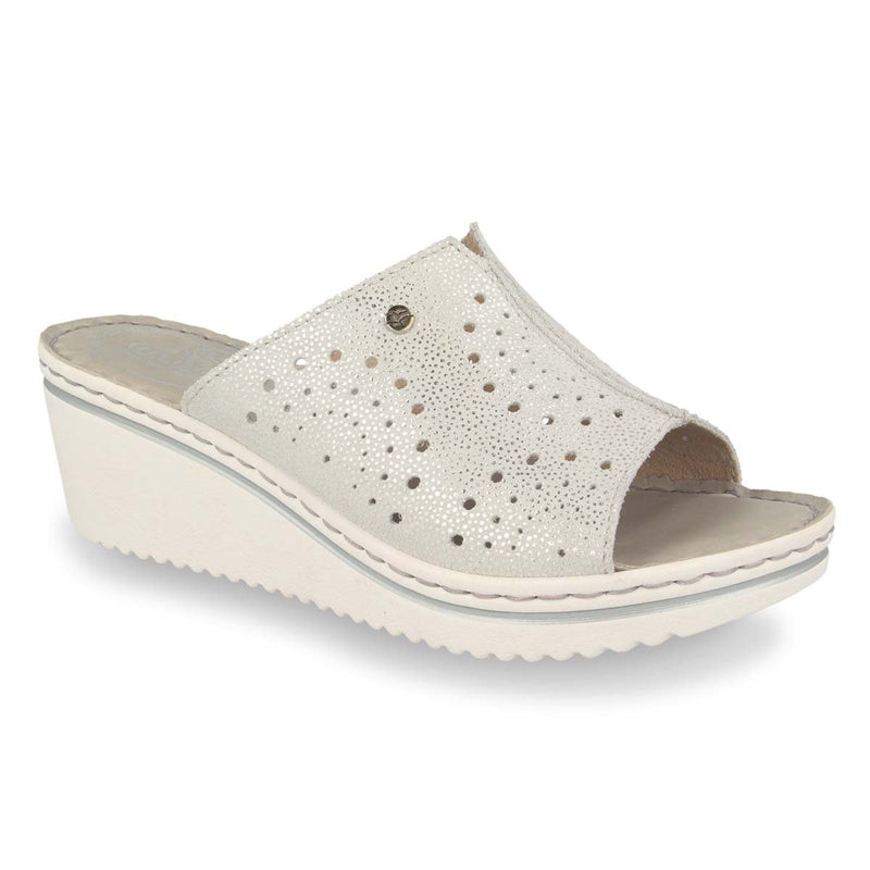 Photo of the Leather Woman Slipper Light Grey (41d41og)
