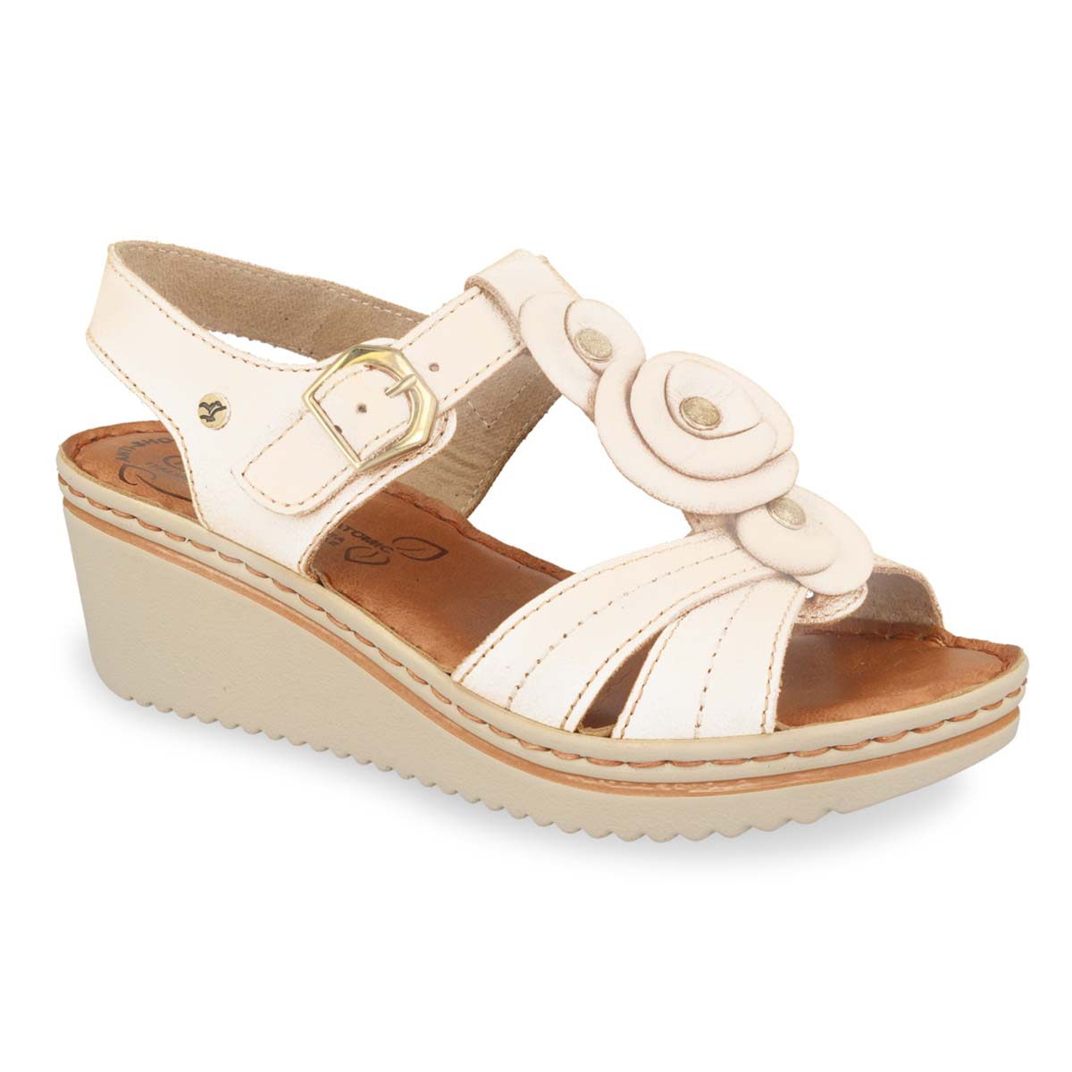 Leather Woman Sandal White (41es4bg)