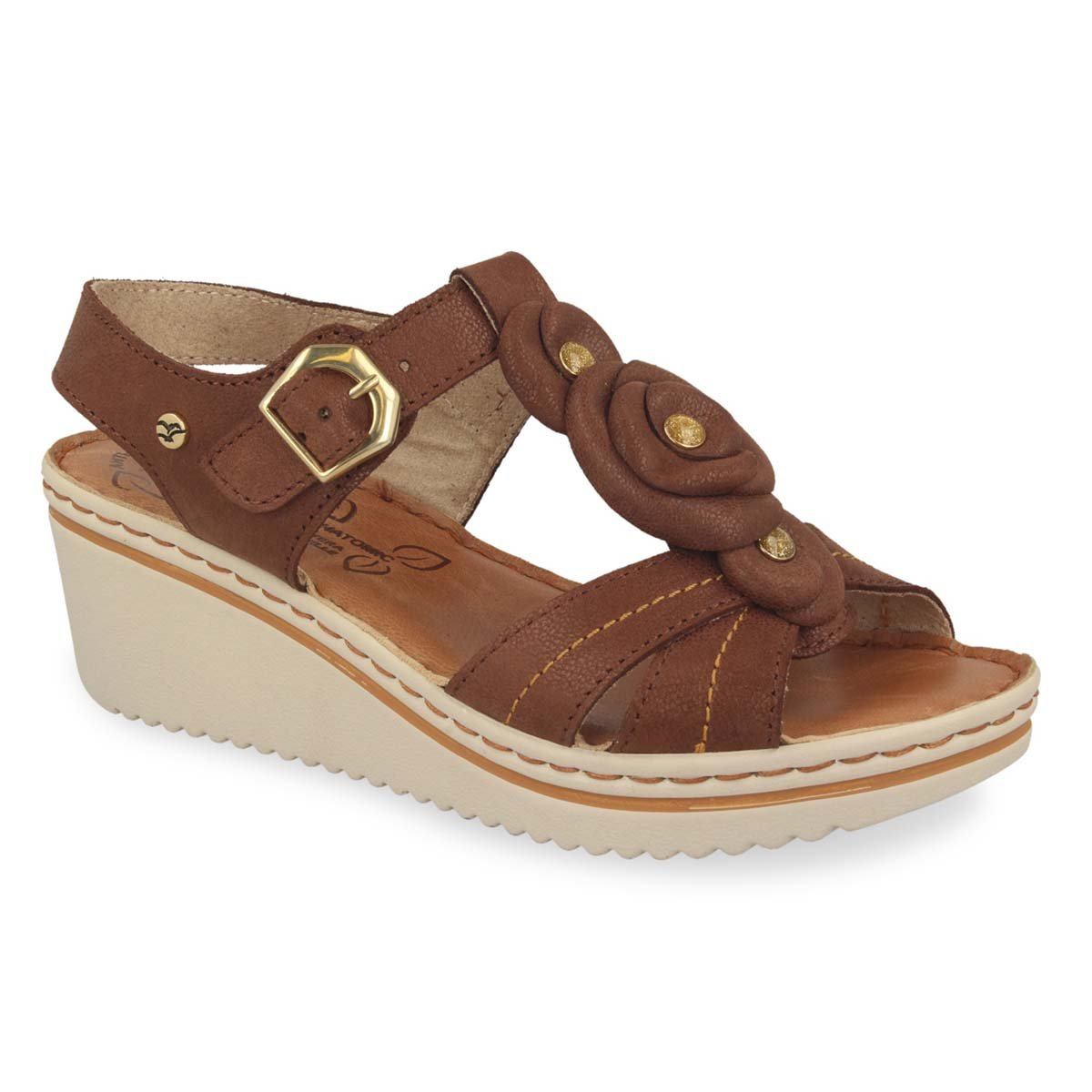 Photo of the Leather Woman Sandal Brown (41e54bg)