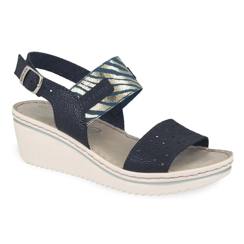 Photo of the Leather Woman Sandal Blue (41e88og)