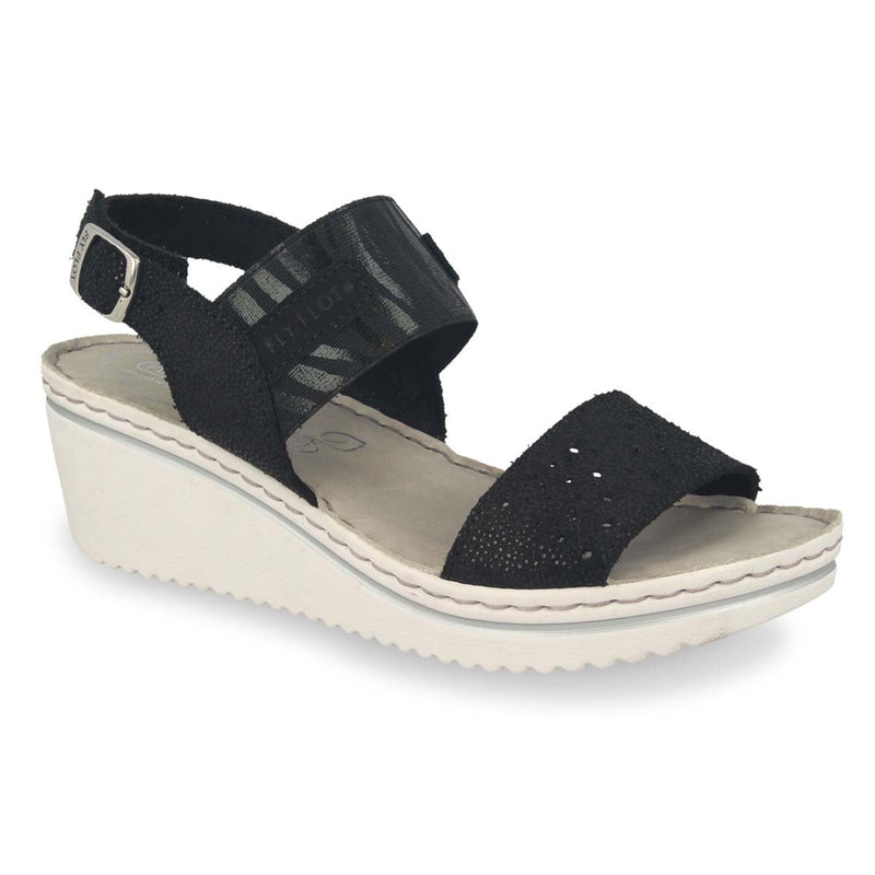 Photo of the Leather Woman Sandal Black (41e88og)