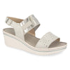 Photo of the Leather Woman Sandal Light Grey (41e88og)