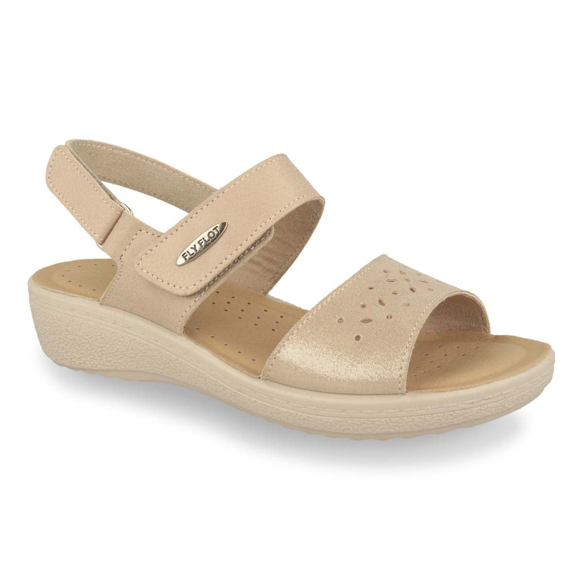 Photo of the Cloth Woman Sandal  Beige(55d66zb)