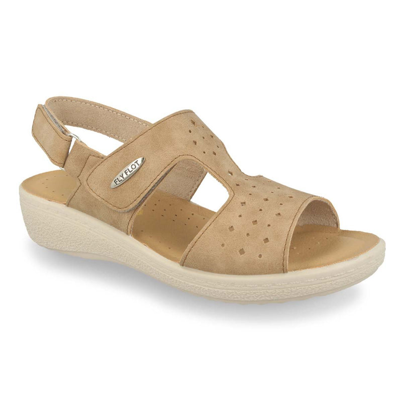 Photo of the Synthetic Woman Sandal Beige (55d69cb)