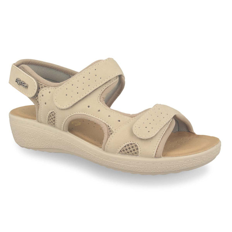 Photo of the Cloth Woman Sandal Ivory  (55f37cb)