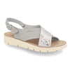 Photo of the Leather Woman Slipper Light Grey (56f12is)