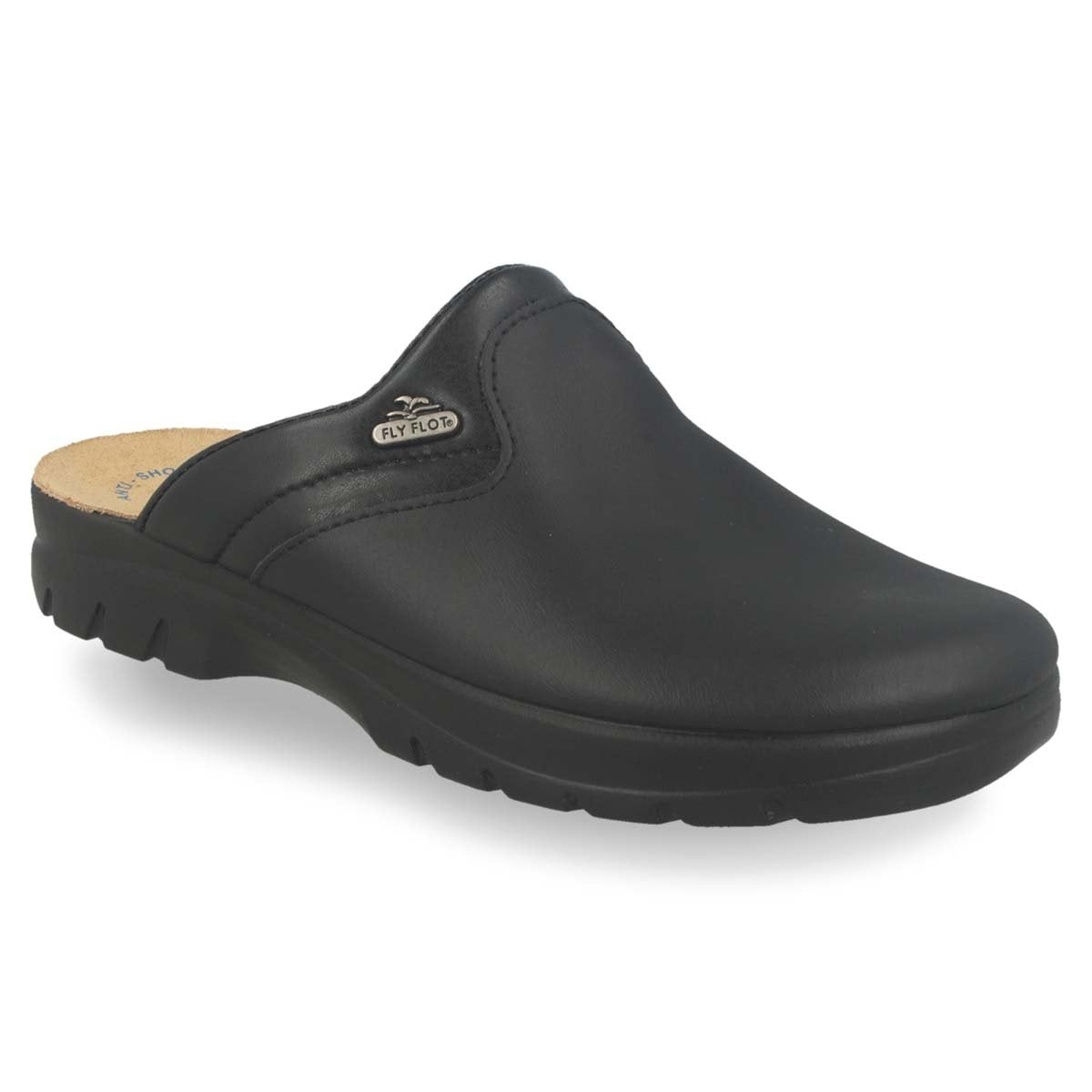 Photo of the Leather Man Slipper Black  (62004bc)