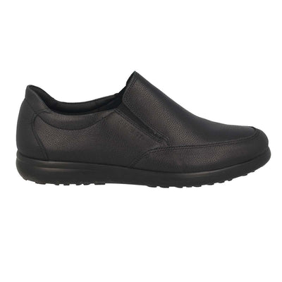 Leather Man Shoe Black  (140625   3B)