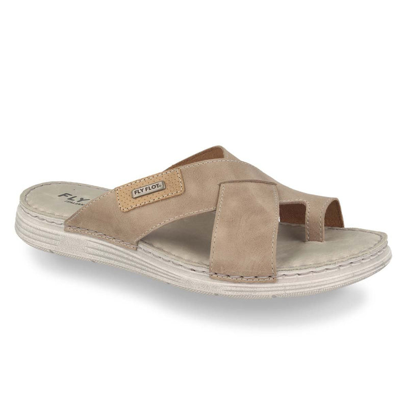 Photo of the Leather Man Slipper Taupe (68126gg)