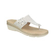 Photo of the Leather Woman Slipper White (71f21bg)