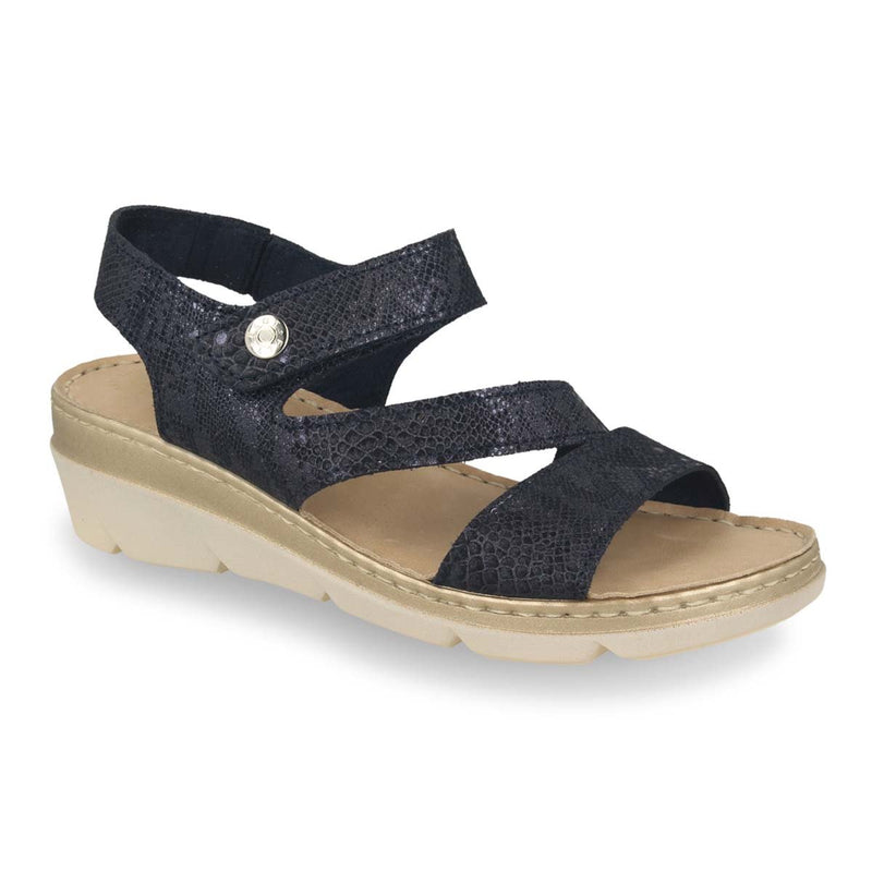 Photo of the Leather Woman Sandal Blue (71f22mg)