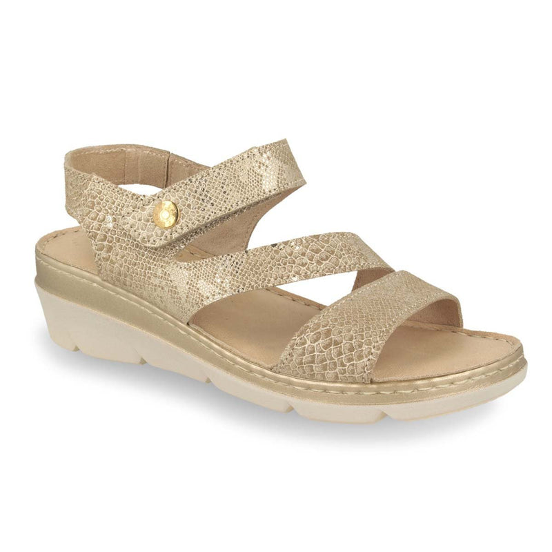 Photo of the Leather Woman Sandal Beige (71f22mg)