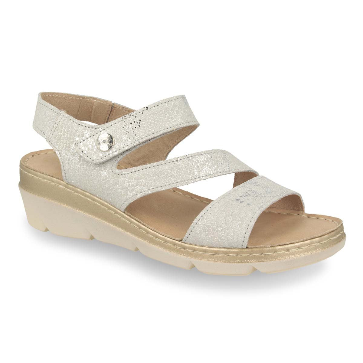 Photo of the Leather Woman Sandal Light Grey  (71f22mg)