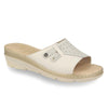Photo of the Leather Woman Slipper White (71f23bg)