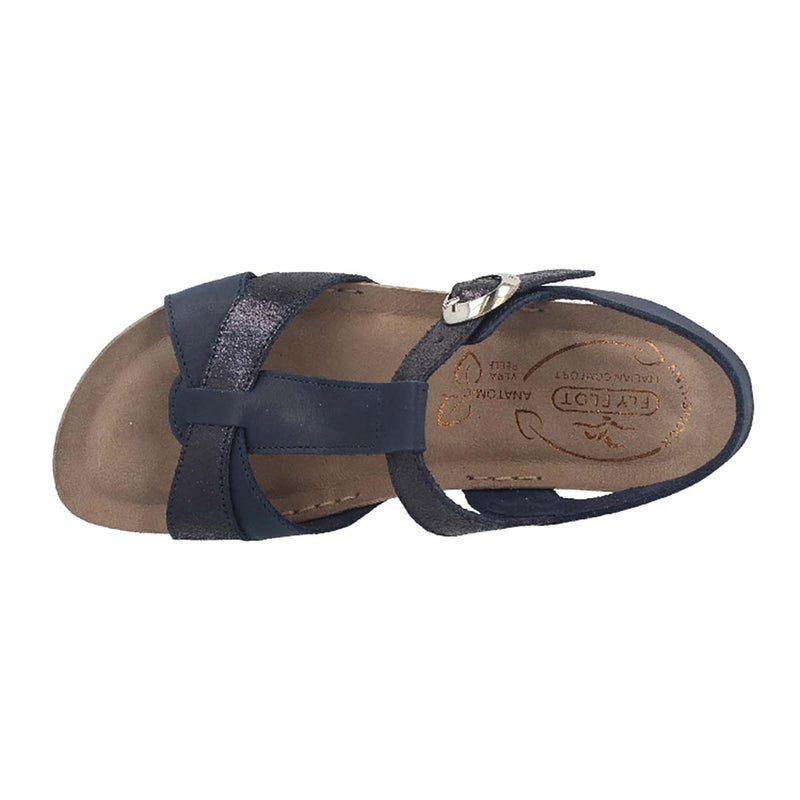 See photos Leather Woman Sandal Blue (15A39PG)