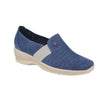 Leather Woman Shoe Blue  (170A89   35)
