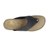 Leather Woman Slipper Blue  (210A21   GG)