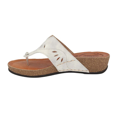 Leather Woman Slipper White  (230137   PG)