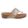 Leather Woman Slipper Taupe  (230146   1G)