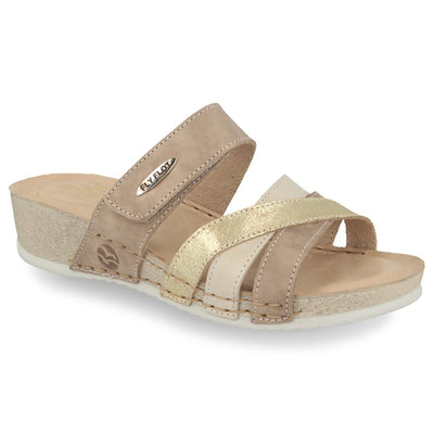 See photos Leather Woman Slipper Taupe (231657G)