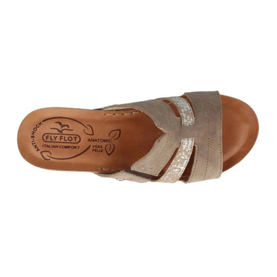 Leather Woman Slipper  Taupe  (230208   PG)