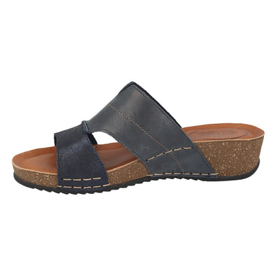 Leather Woman Slipper Blue  (230248   7G)