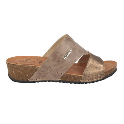 Leather Woman Slipper Taupe  (230248   7G)