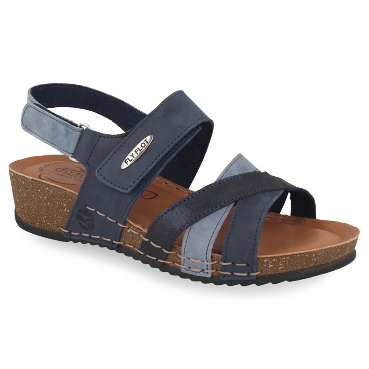 See photos Leather Woman Sandal Blue (23D15PG)