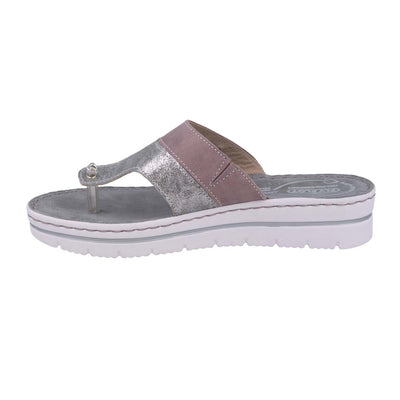 Leather Woman Slipper Lilac  (250B80   LG)