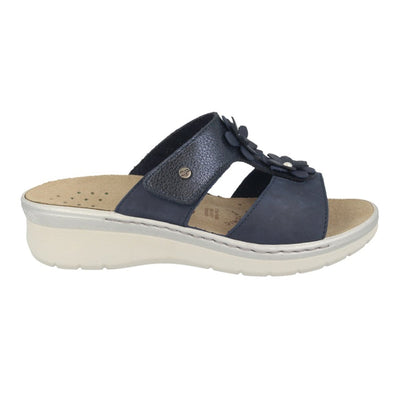 Leather Woman Slipper Blue  (290D76   PV)